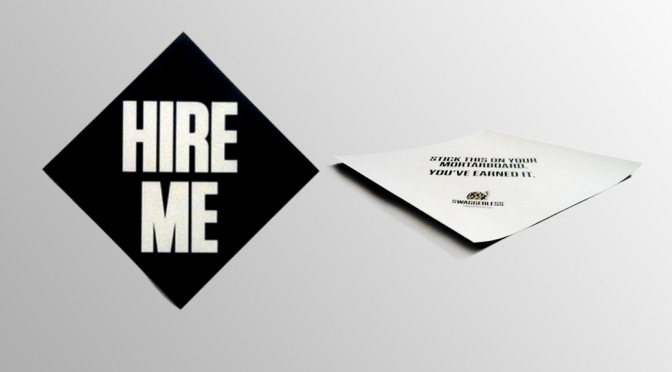 If You're Graduating, You'll Need One of These: Limited Edition 'Hire Me' Decal