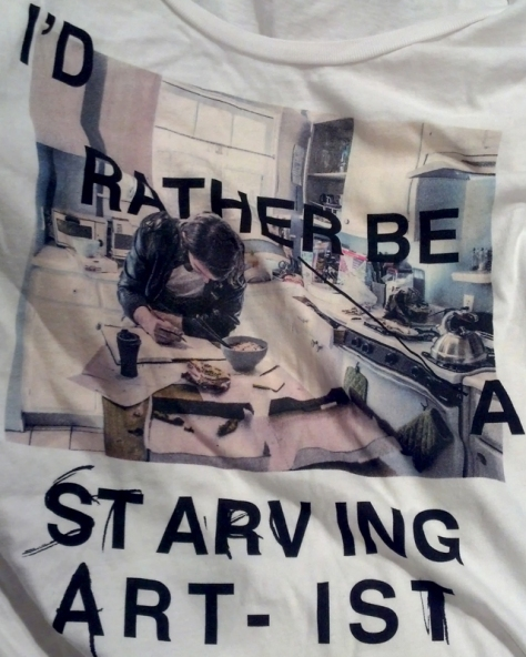 """I'd rather be a starving artist"" Possibly my favorite tee from Love Nail Tree"