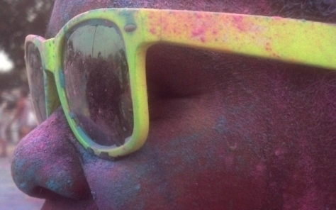 Everyone got a pair of Color Me Rad sunglasses. Next time, we may need goggles...